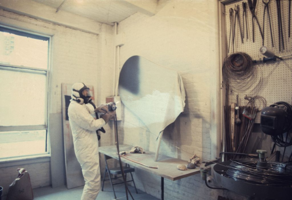 """Jeff at work on his canvas """"Slate"""""""