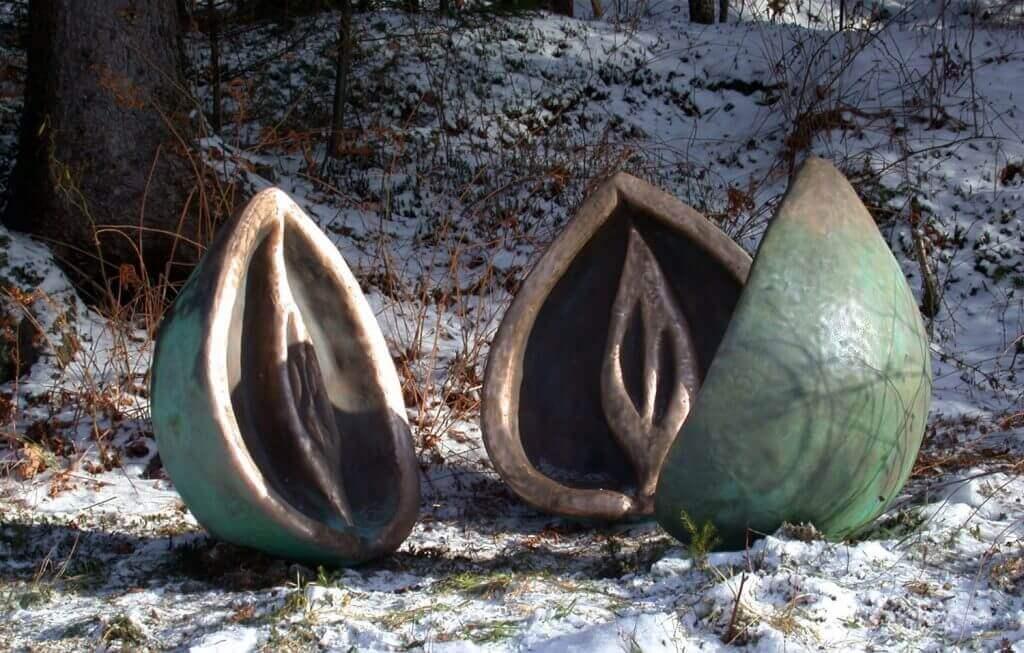 "Kathryn Lipke-Vigessa Life Cycle Sculpture ""Bronze Seed"""